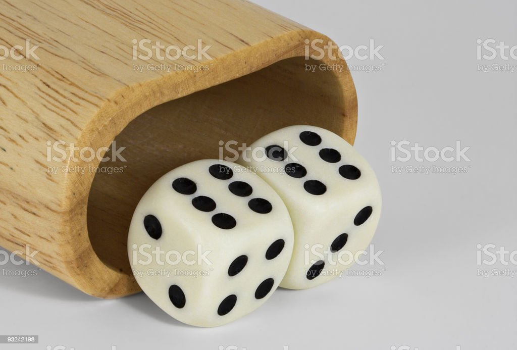 Shaker and Dice royalty-free stock photo