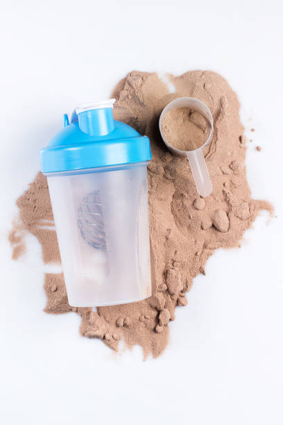 shaker and protein powder - protein stock photos and pictures