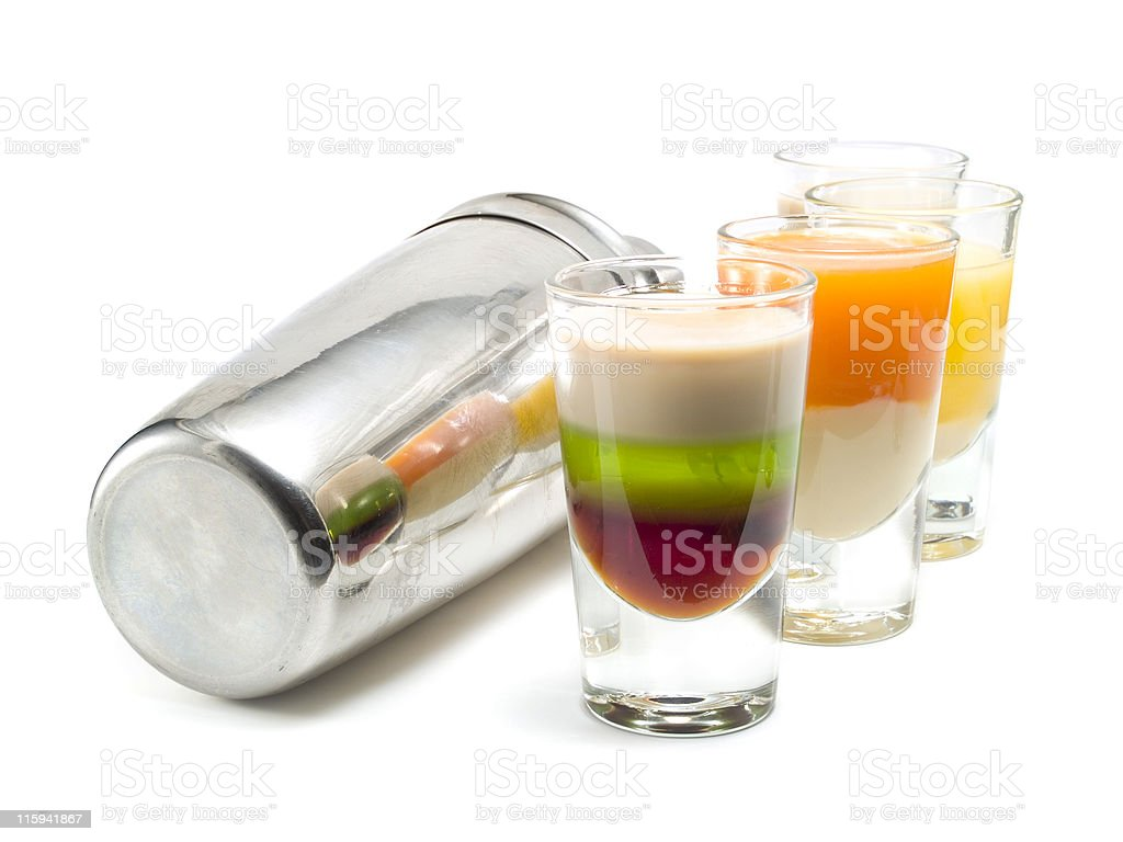 Shaker and Shots royalty-free stock photo