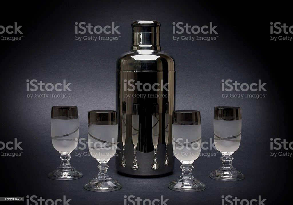 Shaker and shots royalty-free stock photo
