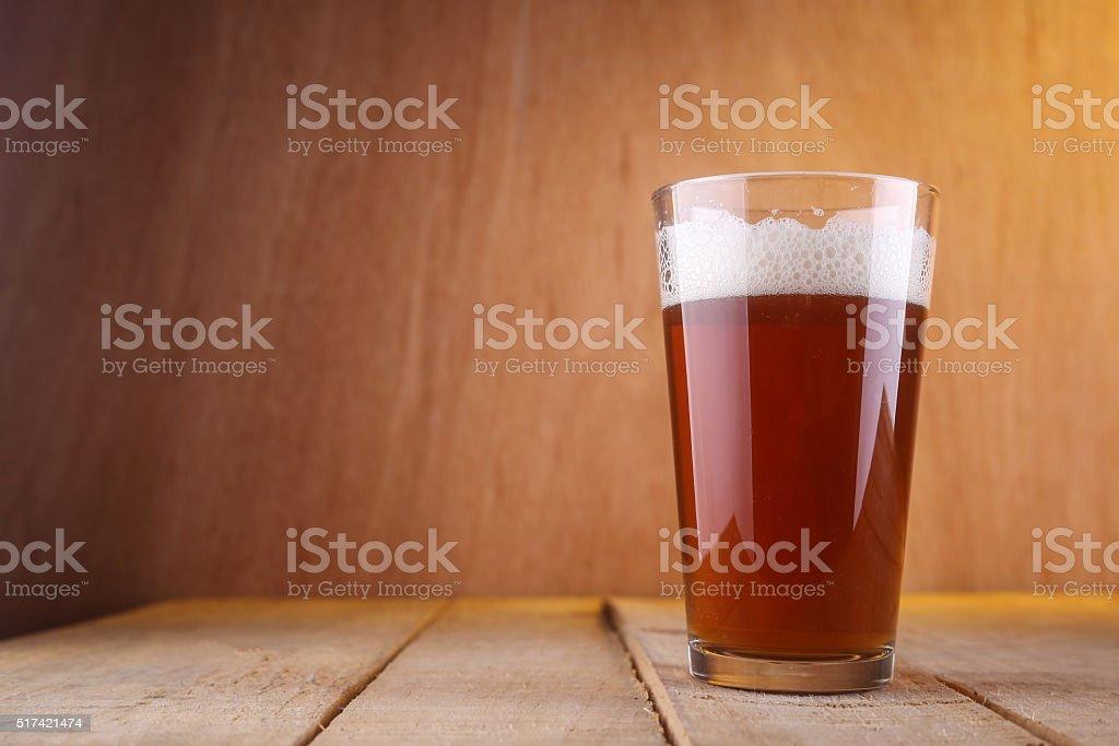 Shaker beer glass stock photo