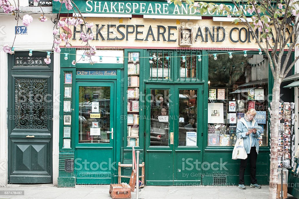 Shakespeare and Company bookstore in Paris (France) stock photo