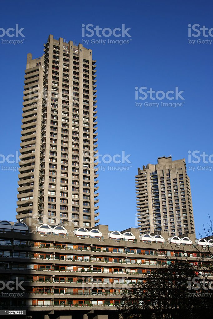 Shakespeare and Cromwell towers royalty-free stock photo