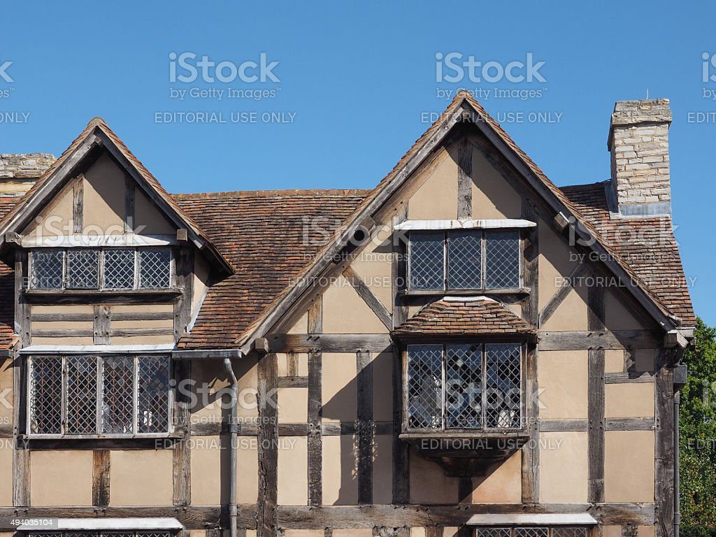 Shakespeare Birthplace In Stratford Upon Avon Royalty Free Stock Photo