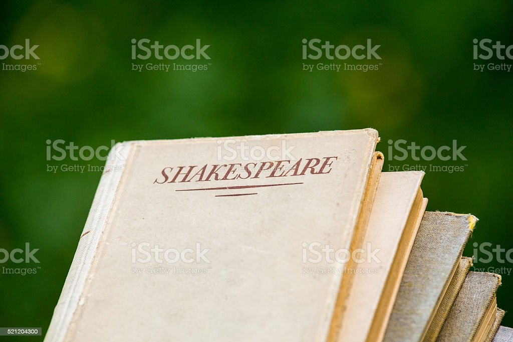 Shakespeare Books Piled Up stock photo