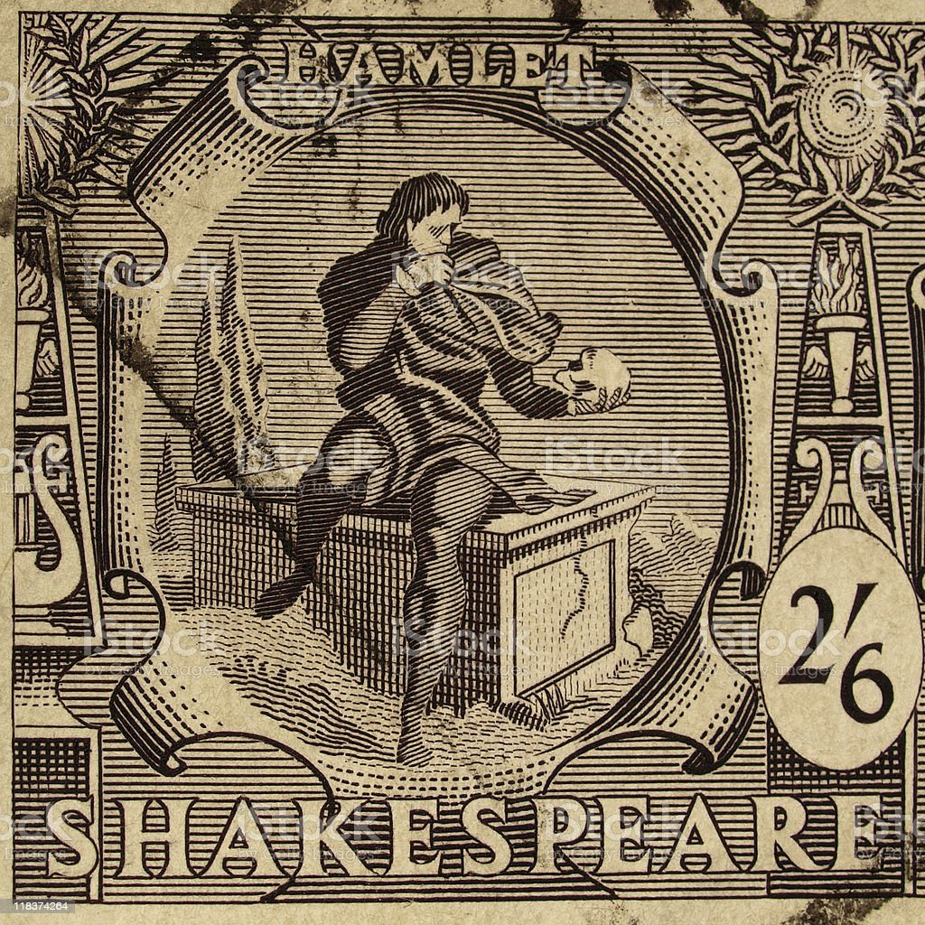 Shakespeare Festival Stamp stock photo
