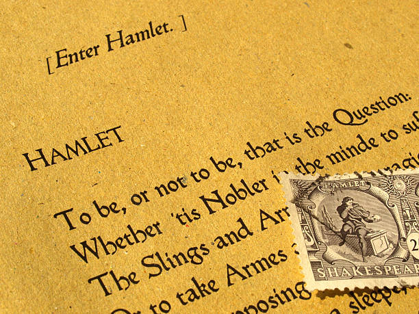 Shakespeare Hamlet with original stamp and book