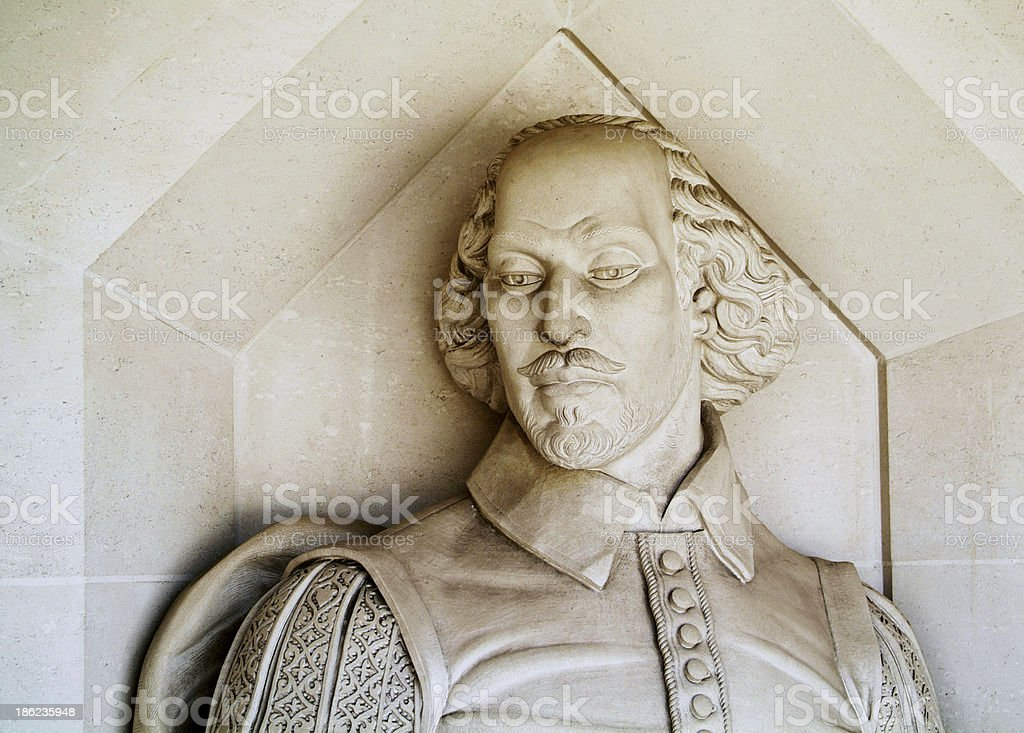 Shakespeare monument stock photo