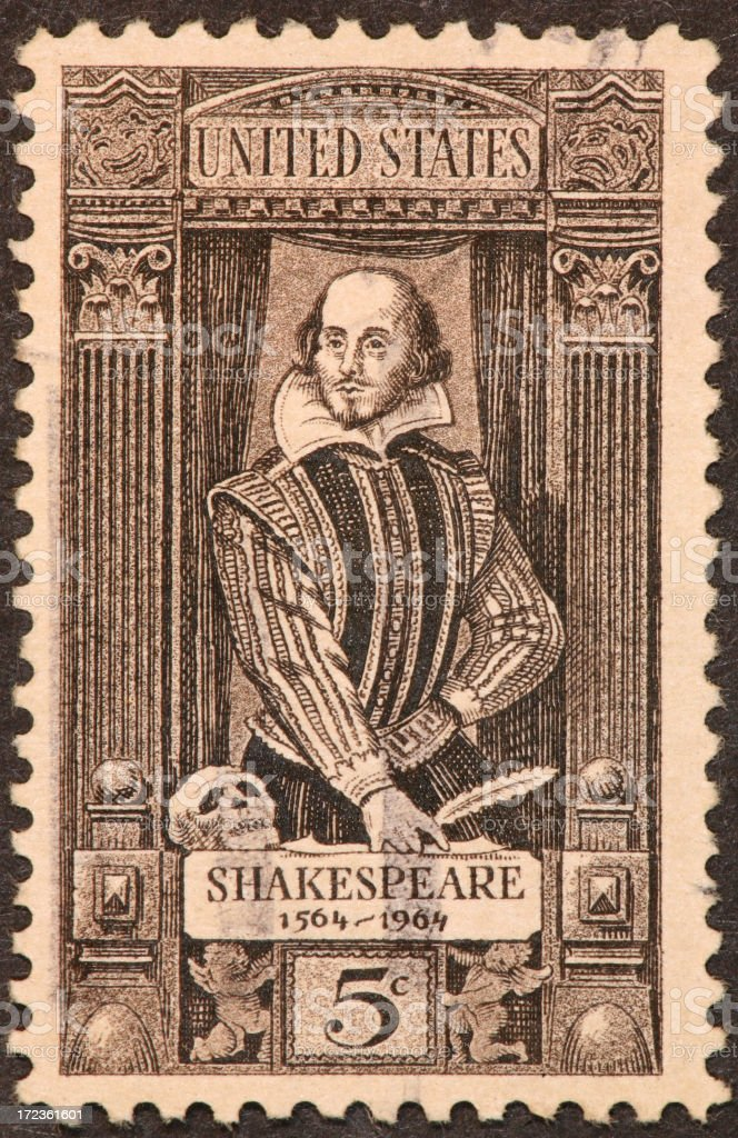 Shakespeare postage stamp royalty-free stock photo
