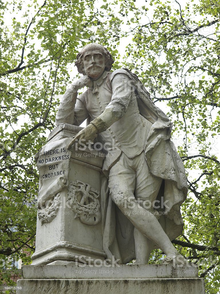 Shakespeare statue stock photo