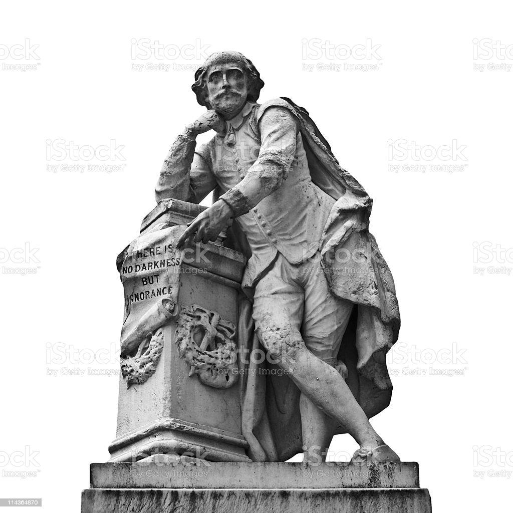Shakespeare statue stock photo