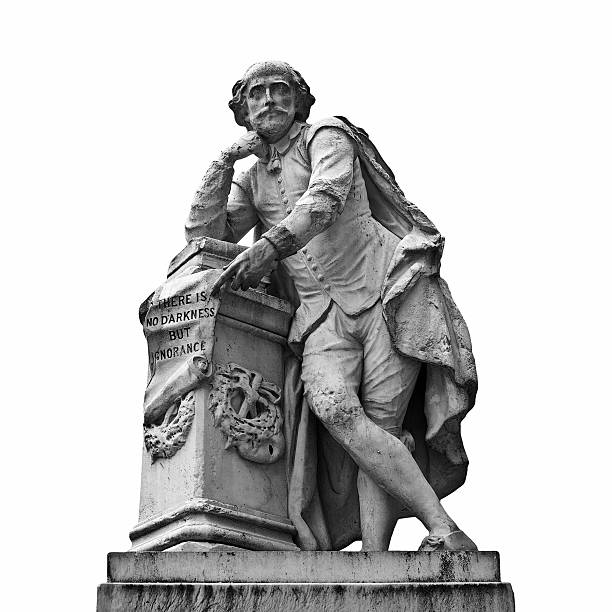 Estátua de Shakespeare - foto de acervo
