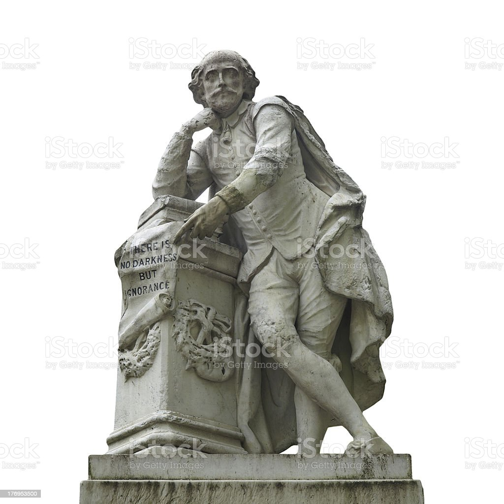 Shakespeare statue royalty-free stock photo