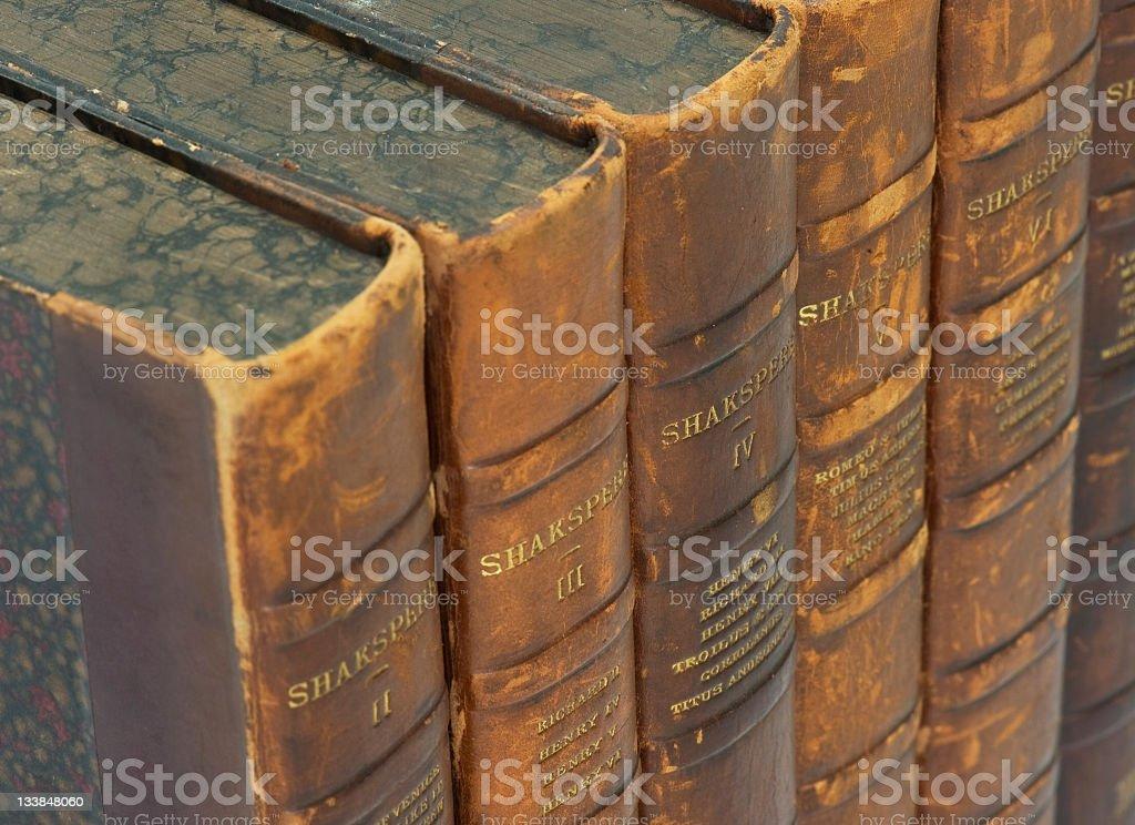 shakespeare volumes stock photo