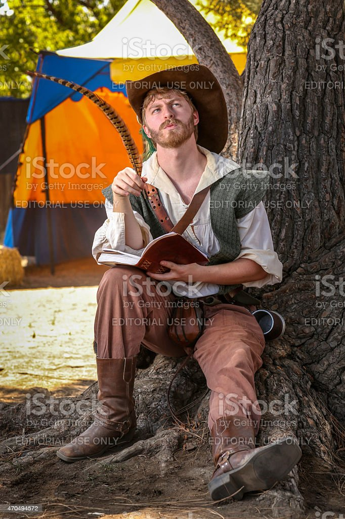 Shakespeare writing stock photo