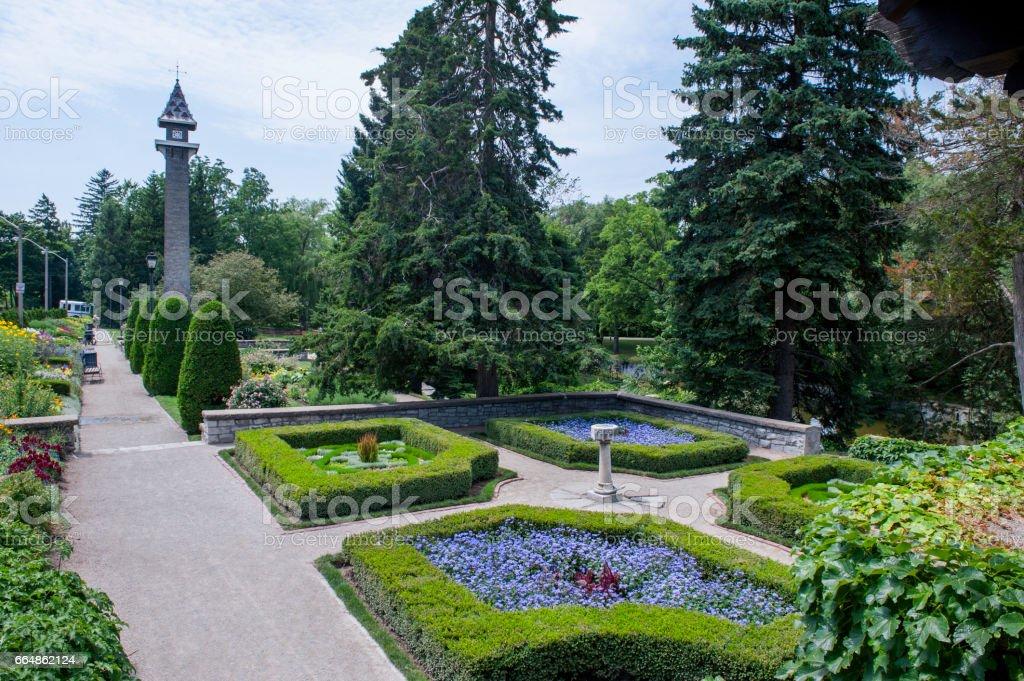 Shakespearean Gardens stock photo