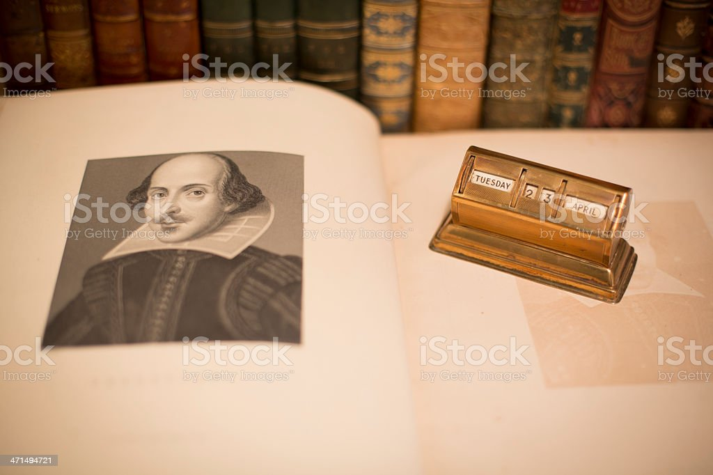 Shakespeare's Birthday 2013 stock photo