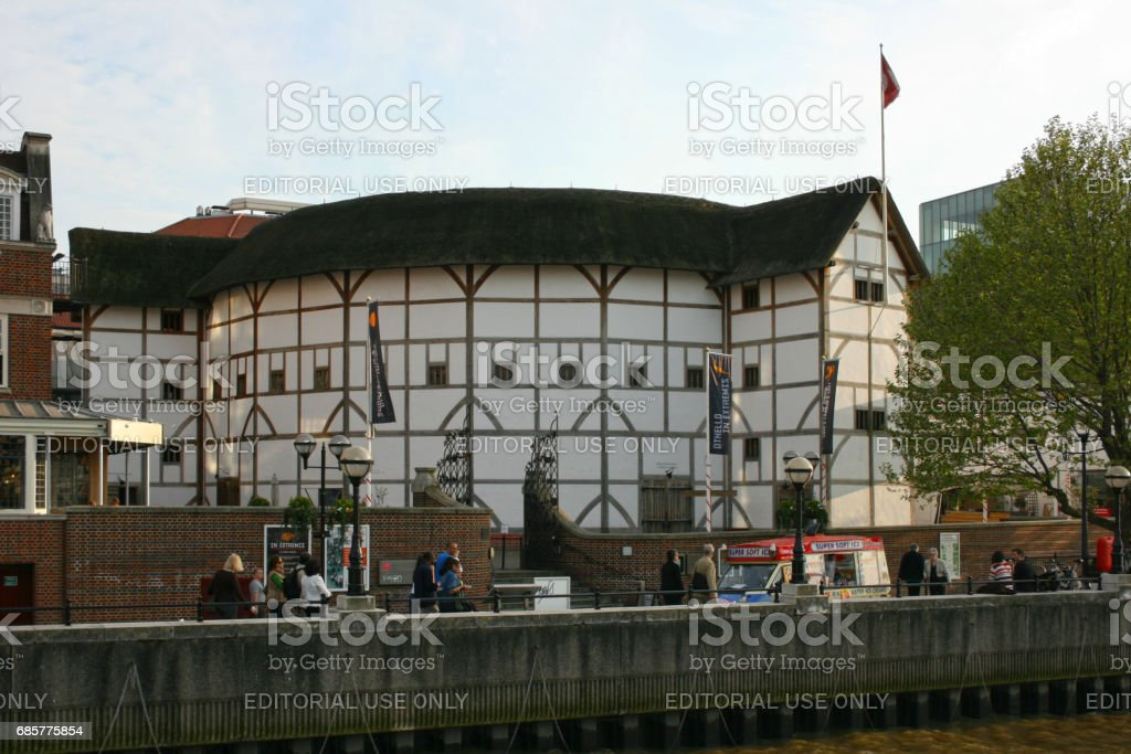 Shakespeare's Globe in London royalty-free stock photo