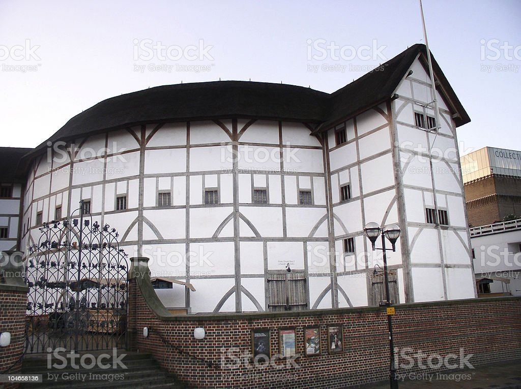 Shakespeare's Globe Theatre stock photo