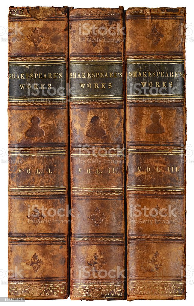 Shakespeare's Works stock photo