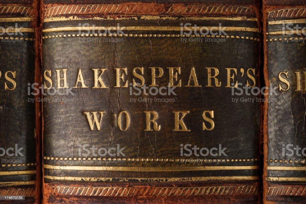 Shakespeare's Works royalty-free stock photo