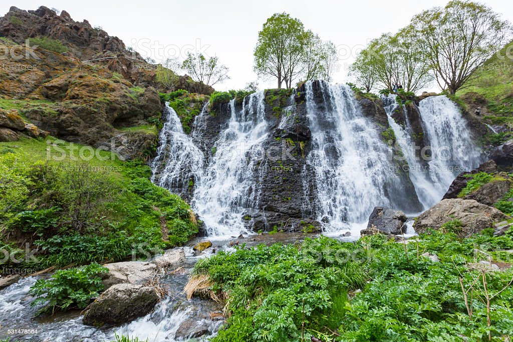 Shaki Waterfall, Armenia stock photo