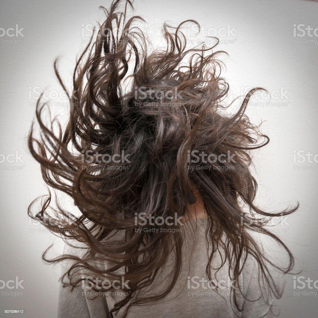 Shaking hair stock photo