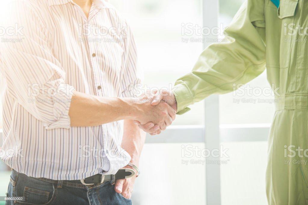 Shaking hand stock photo