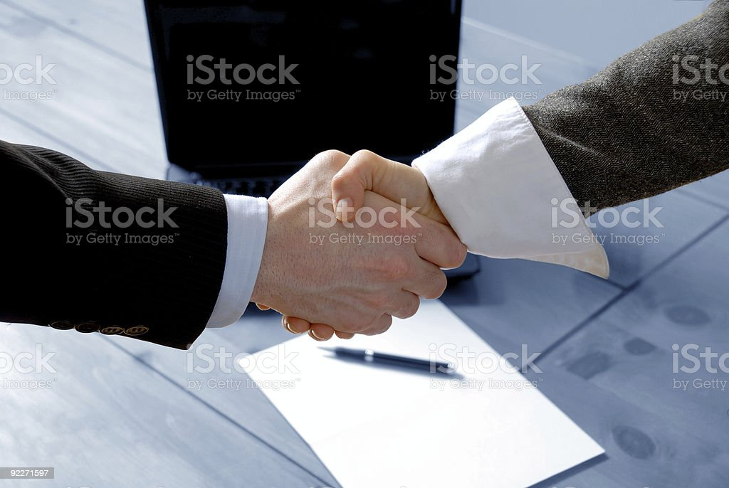Shaking hands - Royalty-free Agreement Stock Photo