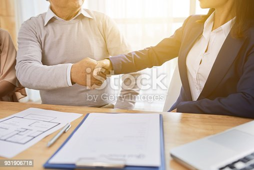 istock Shaking Hands with Estate Agent 931906718