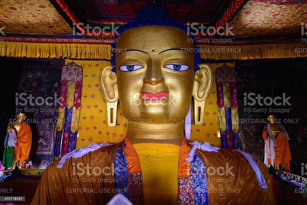 Shakyamuni buddha statue stock photo