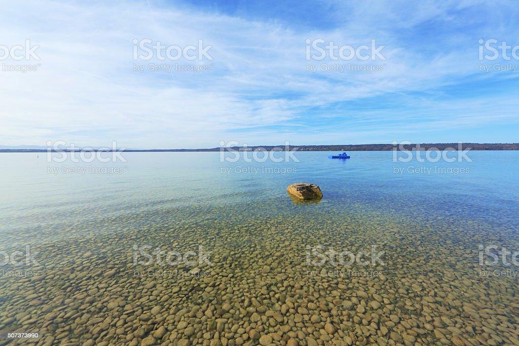 Andünsten und Klar Lake - Lizenzfrei Bayern Stock-Foto