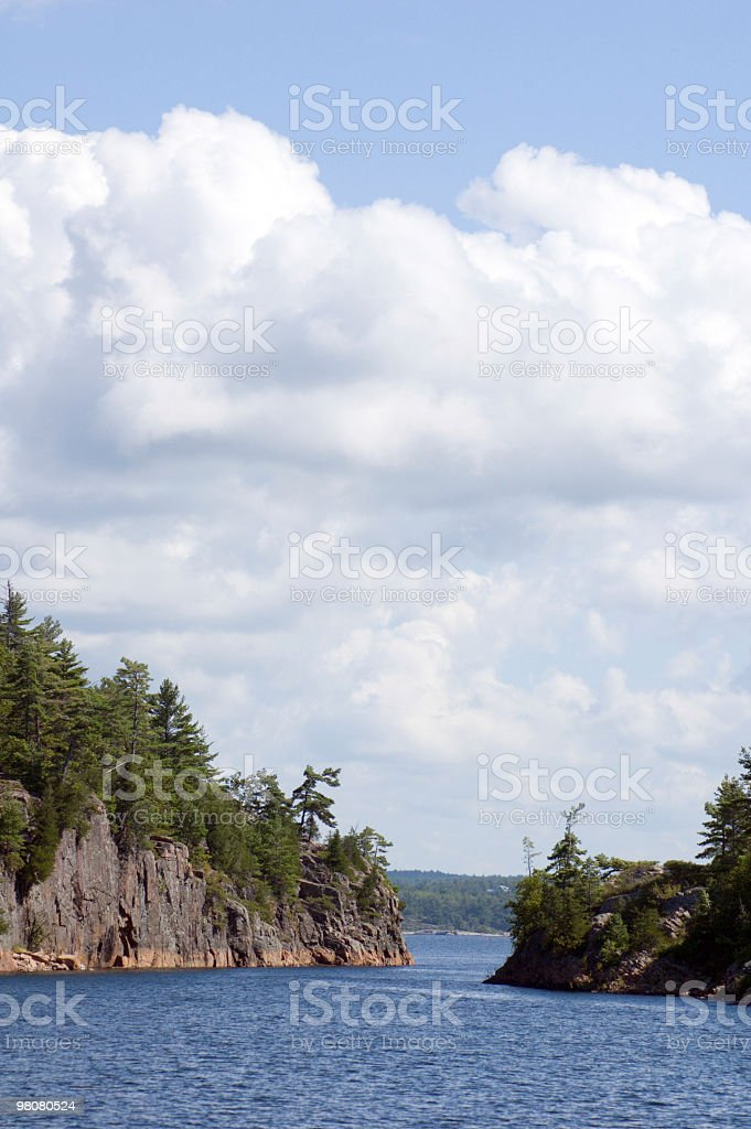 Shallow strait royalty-free stock photo