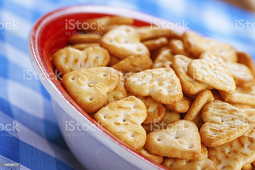 Shallow-shaped cookies royalty-free stock photo
