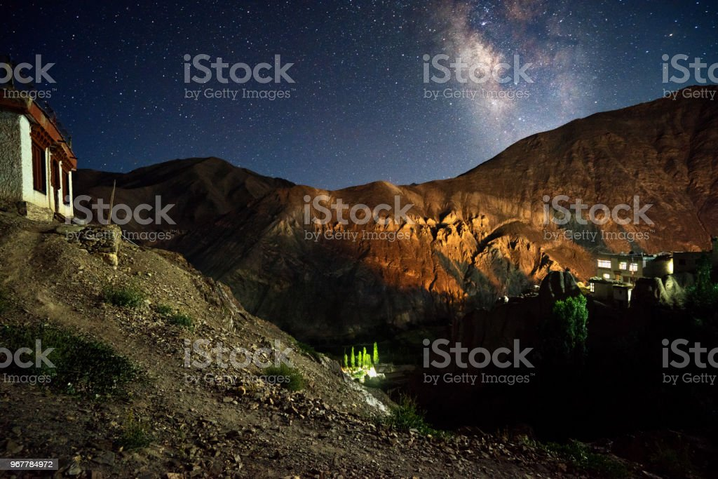 sham valley Milky Way stock photo
