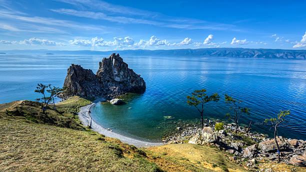 Schamane Felsen, Insel Olkhon, Lake Baikal, Russland – Foto