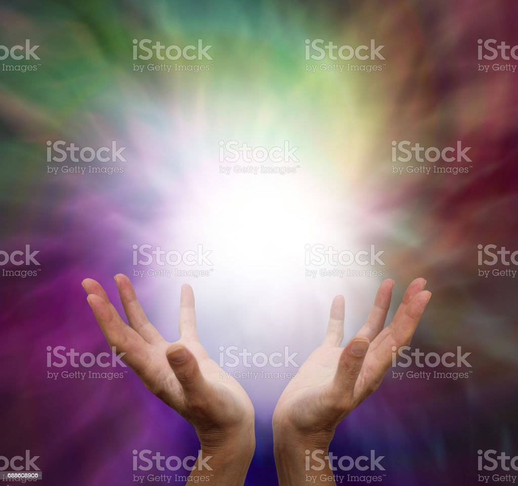 Shamanic Energy Healing stock photo