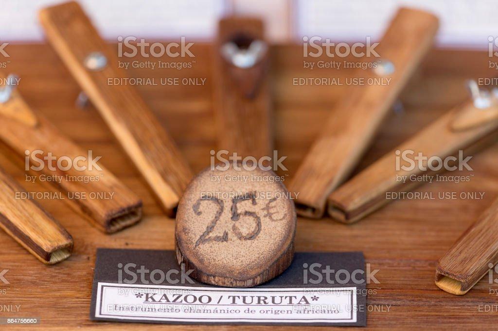 Shamanic instruments of African origin. stock photo