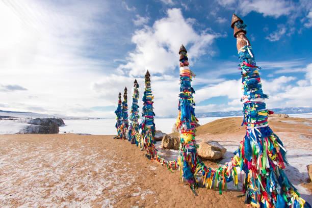 Schamanische Silben auf die Insel Olchon, Baikalsee – Foto