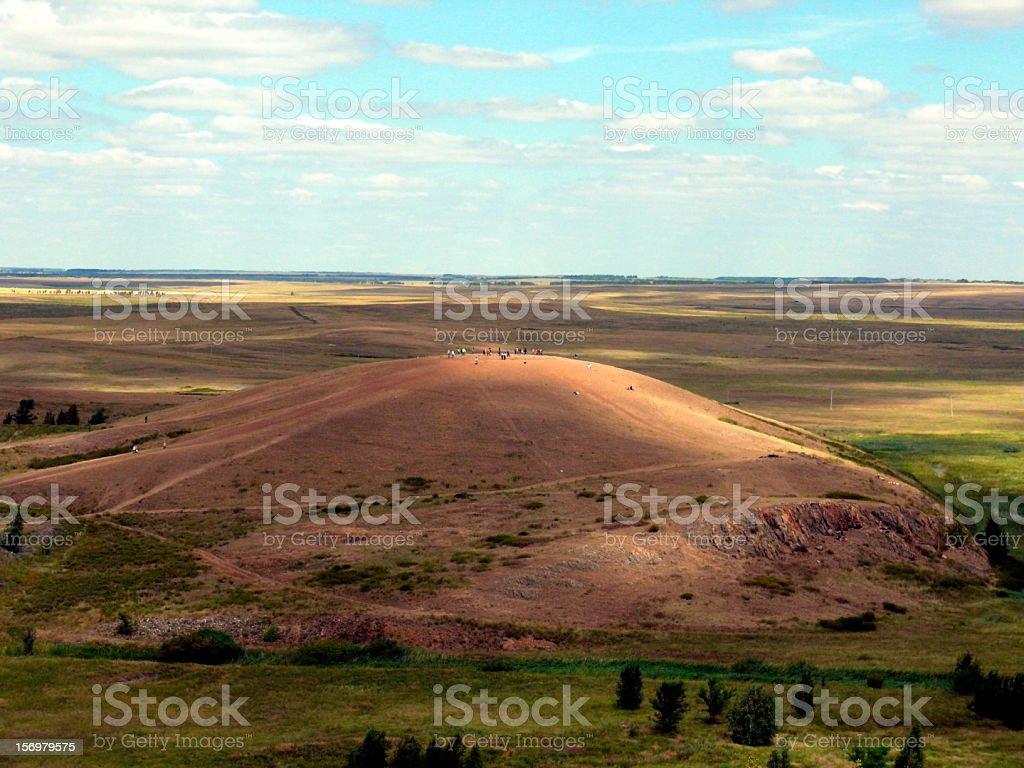 Shamanka mountain in Arkaim, Chelyabinsk area stock photo