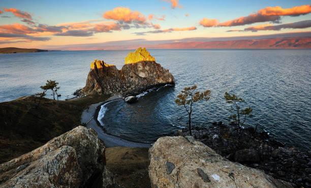 Schamanka Fels auf der Insel Olchon – Foto