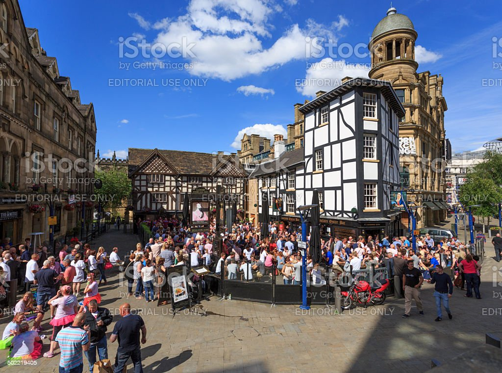 Shambles Square in Manchester royalty-free stock photo