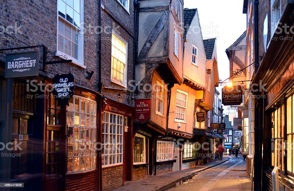 Shambles street scène à York-Angleterre. - Photo