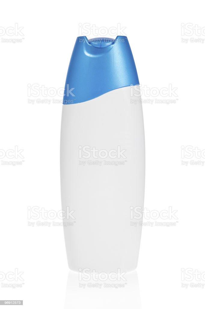 Shampoo bottle isolated on white royalty-free stock photo