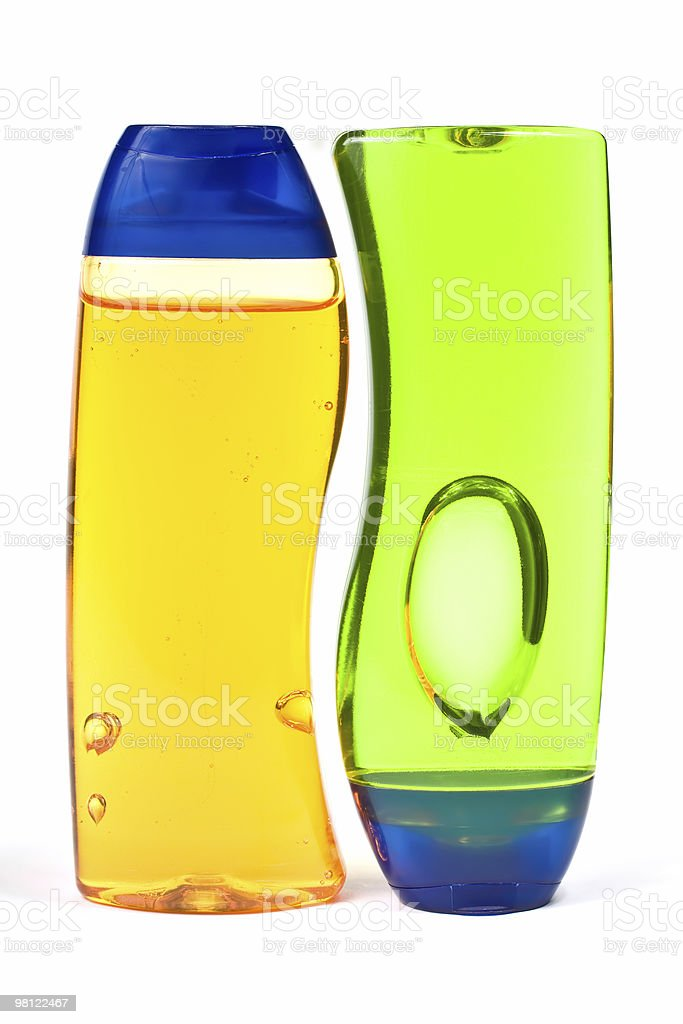 Shampoo bottles royalty-free stock photo