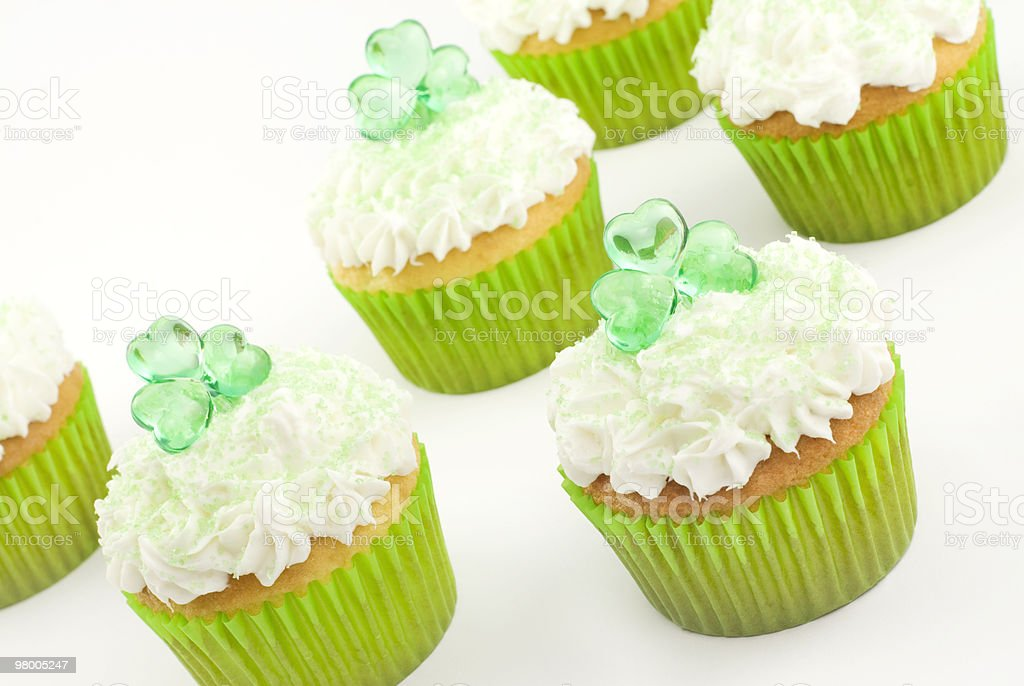 Shamrock Cupcakes royalty free stockfoto