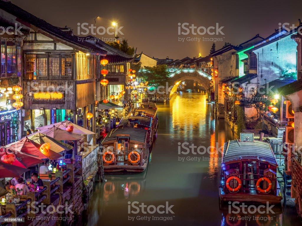 Shan Tong Street, die berühmte historische Straße in Suzhou. (China) – Foto