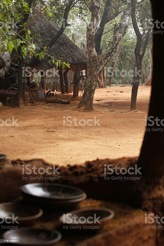 Shangaan tribal village South Africa royalty-free stock photo
