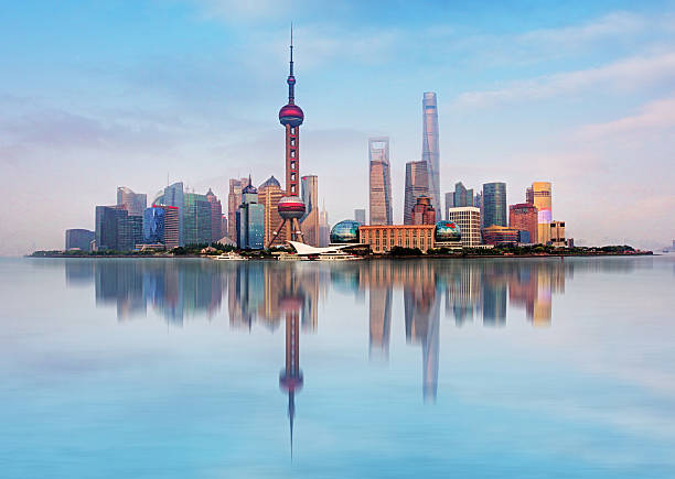 Shangahi skyline, China. Shangahi skyline, China. oriental pearl tower shanghai stock pictures, royalty-free photos & images
