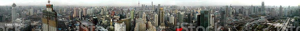 Panorama sur la ville de Shanghai à 360° 上海全景 上海のパノラマ - Photo